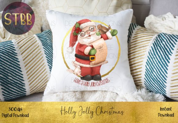 Have a Holly Jolly Christmas Santa Graphic Download