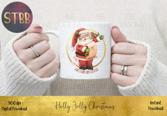 Have a Holly Jolly Christmas Santa Graphic Item