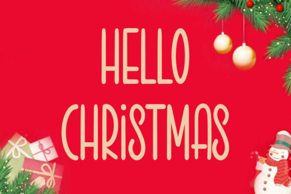 Print on Demand: Hello Christmas Sans Serif Font By K_IN Studio