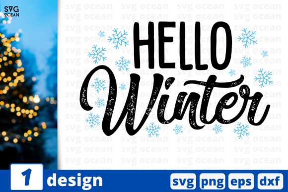Hello Winter Graphic Crafts By SvgOcean