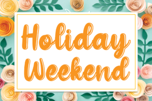 Print on Demand: Holiday Weekend Script & Handwritten Font By andikastudio