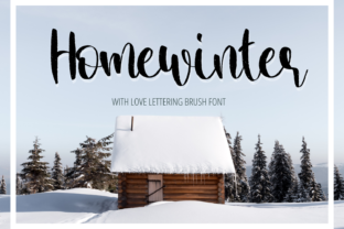 Print on Demand: Home Winter Script & Handwritten Font By Al Ghul