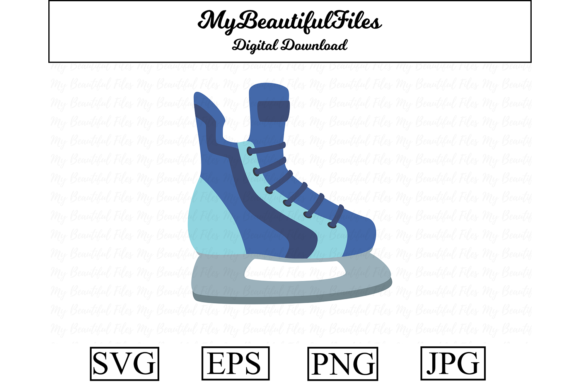 Print on Demand: Ice Skate Clipart Illustration Graphic Illustrations By MyBeautifulFiles