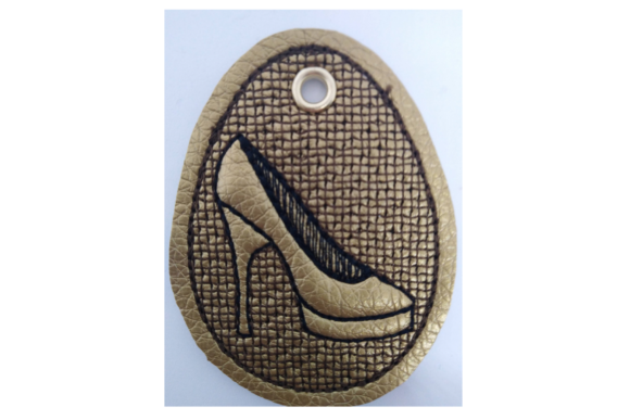 Key Fob Butterfly Shoe - in the Hoop Embroidery Download