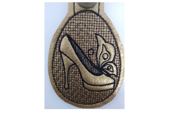 Key Fob Butterfly Shoe - in the Hoop Embroidery Item