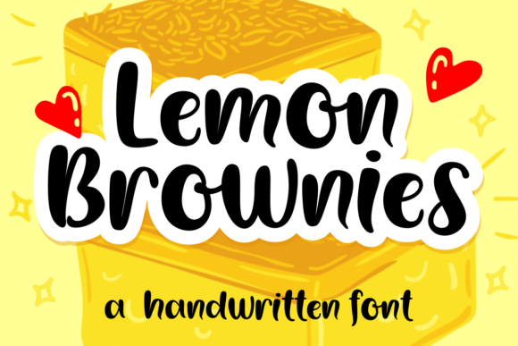 Print on Demand: Lemon Brownies Script & Handwritten Font By deedeetype