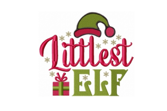 Littlest Elf Christmas Embroidery Design By Sew Terific Designs