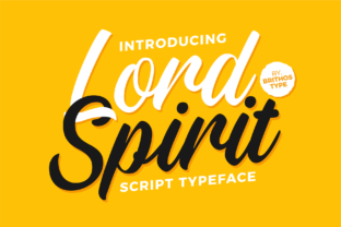 Print on Demand: Lord Spirit Script & Handwritten Font By brithostype
