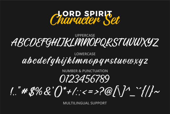Lord Spirit Font Preview