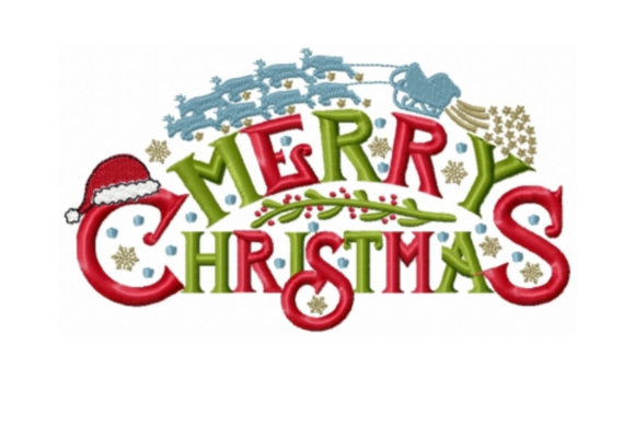Merry Christmas Arch Christmas Embroidery Design By Sew Terific Designs