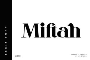 Print on Demand: Miftah Serif Font By Din Studio