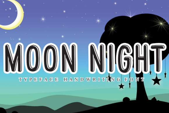 Print on Demand: Moon Night Script & Handwritten Font By andikastudio