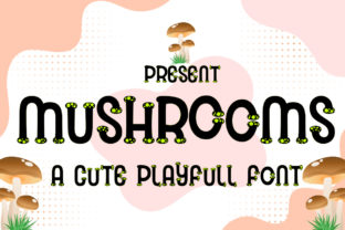 Print on Demand: Mushrooms Decorative Font By jehansyah251