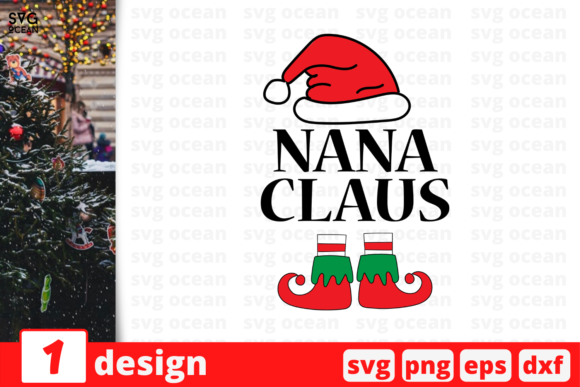 Nana Claus Graphic Crafts By SvgOcean