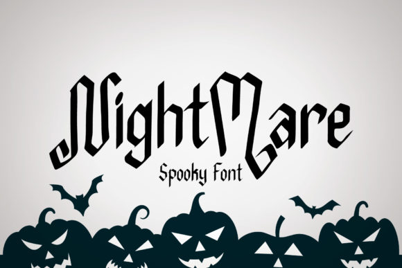 Print on Demand: Nightmare Display Font By AquariiD
