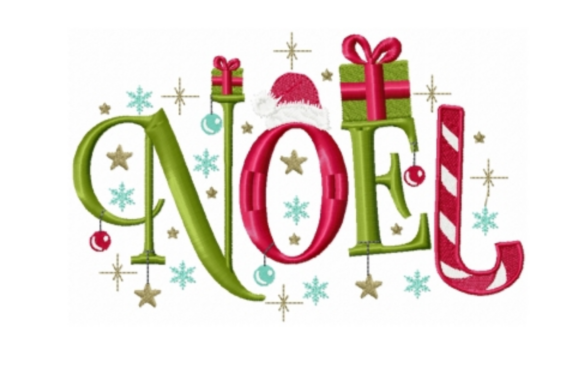 Noel Christmas Embroidery Design By Sew Terific Designs