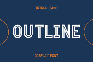 Print on Demand: Outline Sans Serif Font By Pila Studio