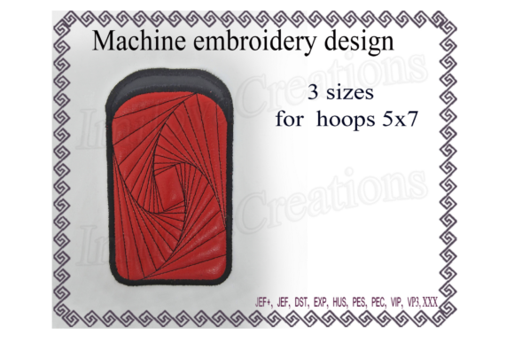 Phone Case - in the Hoop Sewing & Crafts Embroidery Design By ImilovaCreations