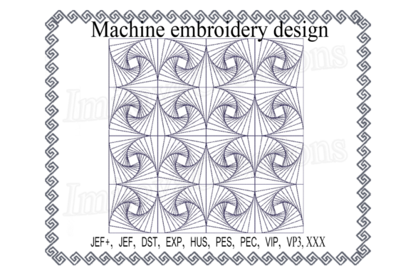 Quilt Block Embroidery Download