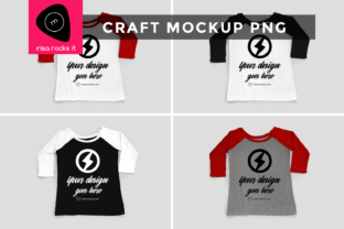 Raglan Tee Craft PNG Mockup Graphic Product Mockups By RisaRocksIt