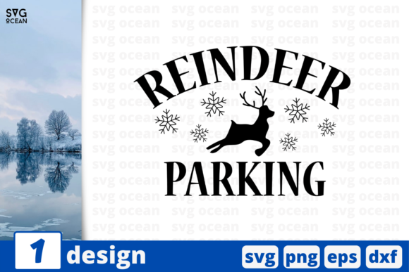 Reindeer Parking Graphic Crafts By SvgOcean