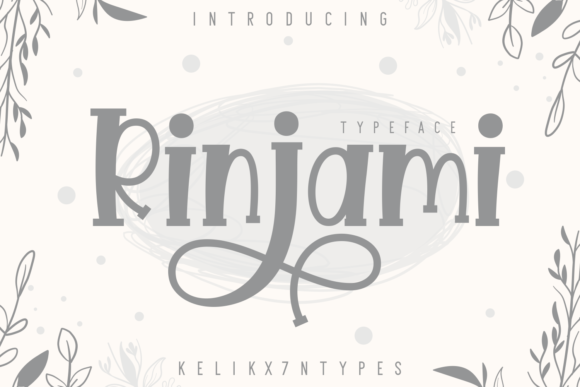 Print on Demand: Rinjami Display Font By Kelik - 7NTypes