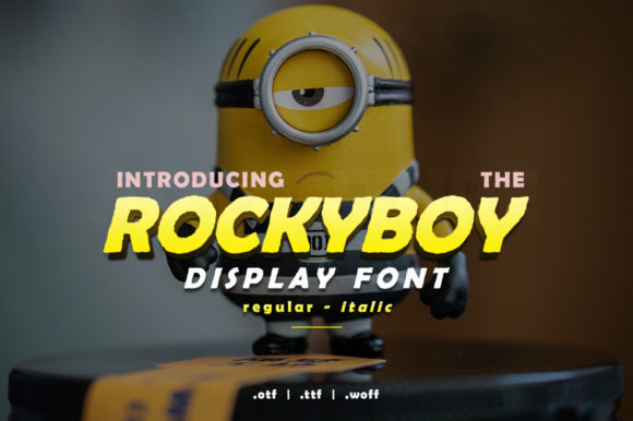 Print on Demand: Rocky Boy Display Font By yantodesign