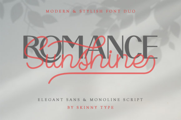 Print on Demand: Romance Sunshine Script & Handwritten Font By Skinny type