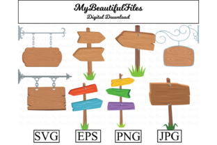 Print on Demand: Signboards Clipart Illustration Bundle Graphic Illustrations By MyBeautifulFiles
