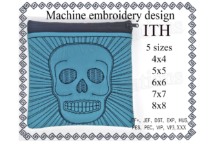 Skull Zippered Bag - in the Hoop Sewing & Crafts Embroidery Design By ImilovaCreations