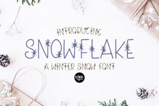 Print on Demand: Snowflake Decorative Font By dixietypeco