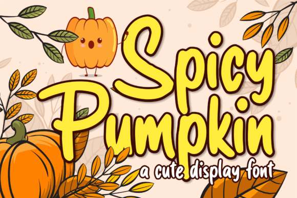 Print on Demand: Spicy Pumpkin Display Font By brithostype
