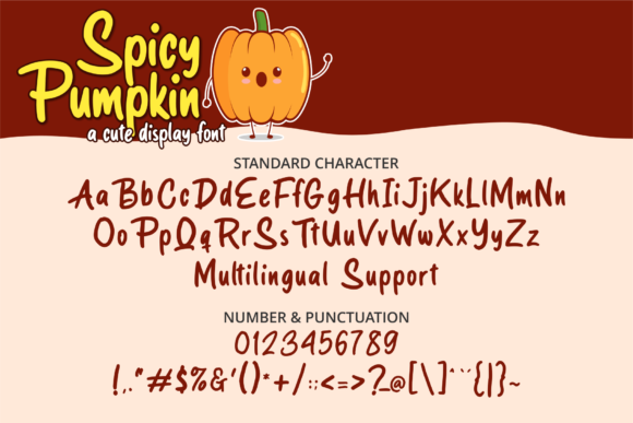 Spicy Pumpkin Font Preview