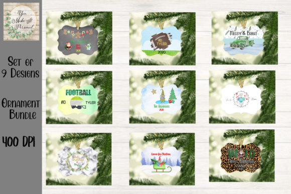 Print on Demand: Sublimation Ornament Bundle Graphic Print Templates By You Make It Personal