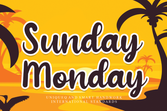 Print on Demand: Sunday Monday Script & Handwritten Font By andikastudio