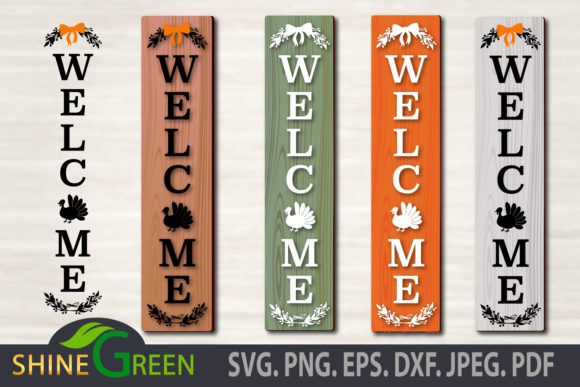 Print on Demand: Thanksgiving Floral Porch Sign Fall SVG Graphic Crafts By ShineGreenArt