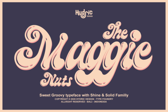 Print on Demand: The Maggie Nuts Display Font By Hydric Design