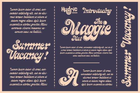 The Maggie Nuts Font Design Item