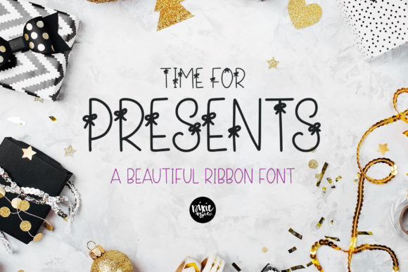 Print on Demand: Time for Presents Decorative Font By dixietypeco