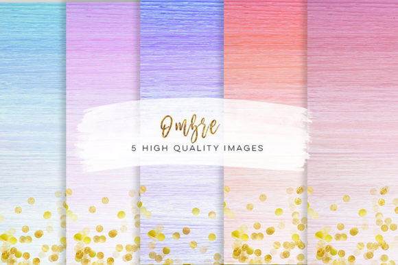 Print on Demand: Watercolour Ombre Paper, Clip Art Graphic Backgrounds By SunflowerLove