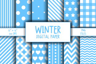 Print on Demand: Winter Pattern Digital Paper Graphic Patterns By atlasart