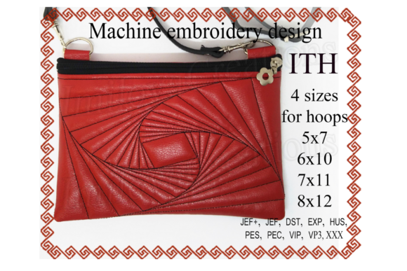 Zippered Bag - in the Hoop Embroidery