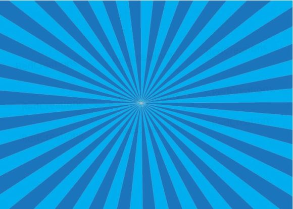 Blue Ray Burst Background, Retro Blue Graphic Backgrounds By RedCreations