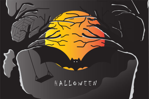 Halloween Background Template Graphic Backgrounds By hafidz.putra67