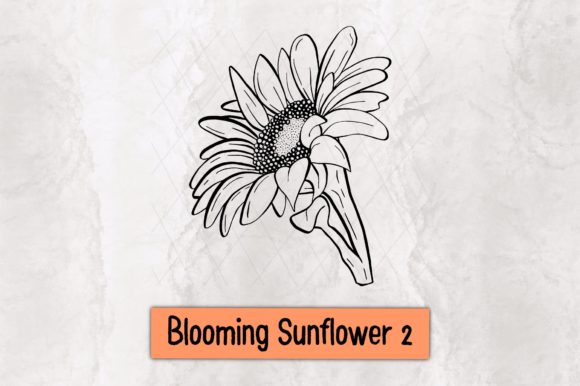 Blooming Sunflower 2 Graphic Crafts By TakeNoteDesign