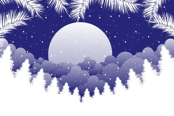 Print on Demand: Christmas Beautifull Night in Snow Graphic Illustrations By edywiyonopp