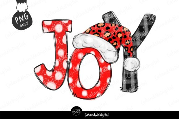 Christmas Joy Sublimation PNG. Graphic Illustrations By CatAndMe