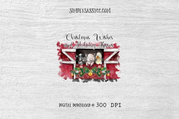 Print on Demand: Christmas Wishes & Holiday Kisses, Farm Graphic Illustrations By Simply Sassy CC