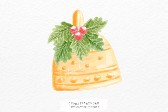 Christmas Bell PNG Graphic Crafts By Chonnieartwork