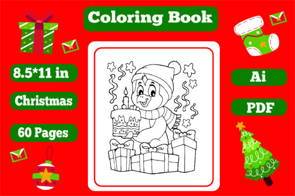 Christmas Coloring Book for Kids 2 - Kdp Graphic